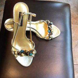 Vince Camuto 8.5 gold dress heels